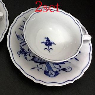 マイセン(MEISSEN)のマイセン ティーカップ&ソーサー ブルーオニオン 2セット(食器)