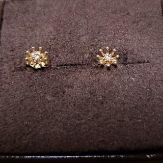 agete - agete アガット ピアス フラワー型K10 ダイヤモンド