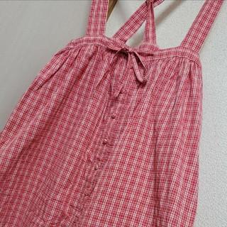 PINK HOUSE - ピンクハウス チェック吊りスカート