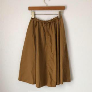ムジルシリョウヒン(MUJI (無印良品))の未使用 無印 イージーワイドギャザー スカート キャメル(ひざ丈スカート)