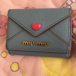 miumiu - ミュウミュウ    マドラスラブ 三つ折り財布