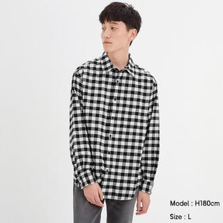 ジーユー(GU)のフランネルシャツ(長袖)(シャツ)