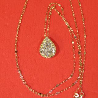 アッシュペーフランス(H.P.FRANCE)の美品 18金 ダイヤモンドネックレス(ネックレス)