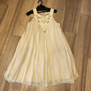 GRACE CONTINENTAL - 美品 ワンピース GRACE CONTINENTAL 結婚式 ドレス ベージュ