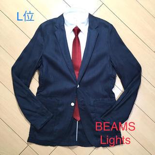 ビームス(BEAMS)の美品★ビームス×リネンテーラードジャケット アンコン仕立て ネイビー/紺A869(テーラードジャケット)