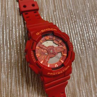 ジーショック(G-SHOCK)のGshock レッド(腕時計(デジタル))