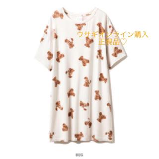 ジェラートピケ(gelato pique)のジェラートピケ♡ベアモチーフ抗菌防臭ドレス(ルームウェア)