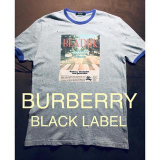 バーバリーブラックレーベル(BURBERRY BLACK LABEL)の【美品】BURBERRY BLACK LABEL  ダメージ加工Tシャツ(Tシャツ/カットソー(半袖/袖なし))
