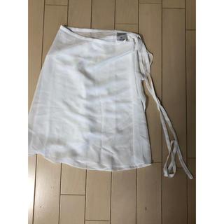 チャコット(CHACOTT)のチャコット 巻きスカート  Mサイズ  美品 白(ダンス/バレエ)