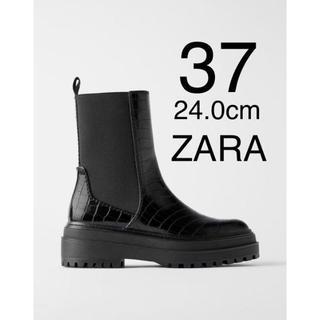 ザラ(ZARA)のZARA ザラ 新品 フラット アンクルブーツ 37(ブーツ)