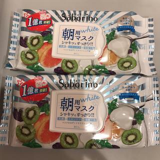 サボリーノ 目ざまシート フレッシュ果実のホワイトタイプ 28枚×2個(パック/フェイスマスク)