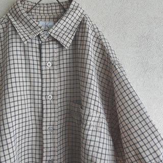 カルバンクライン(Calvin Klein)のCalvin Klein シャツ チェック オーバーサイズ ロゴ(シャツ)