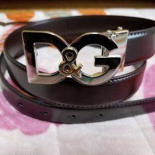 ドルチェアンドガッバーナ(DOLCE&GABBANA)の新品未使用★D&G シルバー&ゴールドバックル/ ★光沢 ベルト(ベルト)