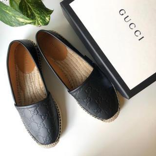 グッチ(Gucci)の最終値下げ! Gucci  グッチ GG柄 レザー エスパドリーユ 34(ローファー/革靴)