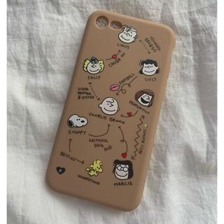 スヌーピー(SNOOPY)のスヌーピー ♡ iPhoneケース 7/8 相関図 くすみブラウン(iPhoneケース)