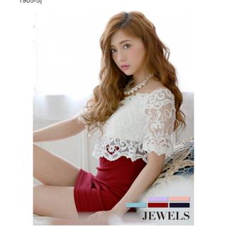 JEWELS - ✩.*˚新品未使用タグ付き♢ホワイトレース&タイトミニ *☆*キャバドレス♡