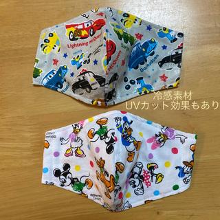 ディズニー(Disney)のミッキーマウス カーズ インナーマスク 子ども用 2枚セット(外出用品)