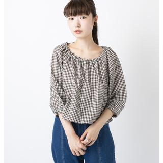 カスタネ(Kastane)のkastane 後ろリボンドビーシャツ(シャツ/ブラウス(半袖/袖なし))