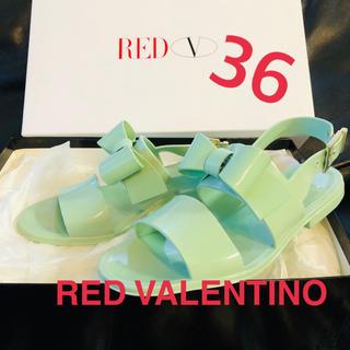 レッドヴァレンティノ(RED VALENTINO)のRED VALENTINO ラバーリボン サンダル 極美品(サンダル)