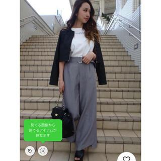 RESEXXY - RESEXXY 裾ヘムスリットワイドパンツ