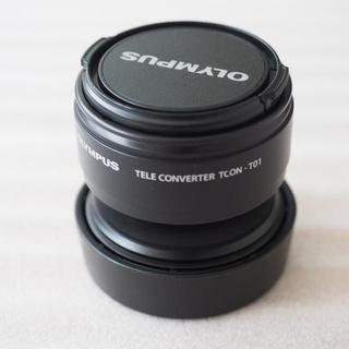 オリンパス(OLYMPUS)の美品 オリンパス TG シリーズ TCON- T01 テレコンバーター ×1.7(レンズ(単焦点))