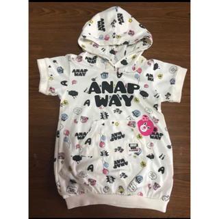 アナップキッズ(ANAP Kids)のアナップキッズ 半袖 ワンピース 女の子 100cm(ワンピース)