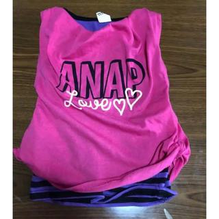アナップキッズ(ANAP Kids)のアナップキッズトップス  タンクトップ 2セット 女の子 100cm(Tシャツ/カットソー)