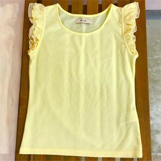 ミーア(MIIA)のMIIA フリル ノースリーブ Tシャツ トップス(Tシャツ(半袖/袖なし))