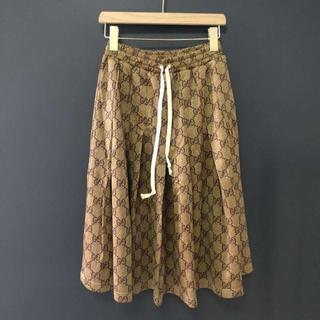 グッチ(Gucci)のGUCCI GGテクニカルジャージースカート(ロングスカート)