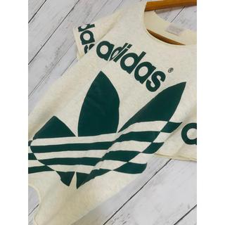 ワイスリー(Y-3)のはみ出し特大三葉。最高映えアディダスオリジナルスTシャツ90s ZARA Y-3(Tシャツ/カットソー(半袖/袖なし))