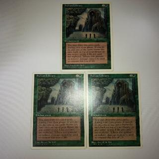 マジックザギャザリング(マジック:ザ・ギャザリング)のMTG Sylvan Library/森の知恵(4ED) 英語版 3枚(シングルカード)