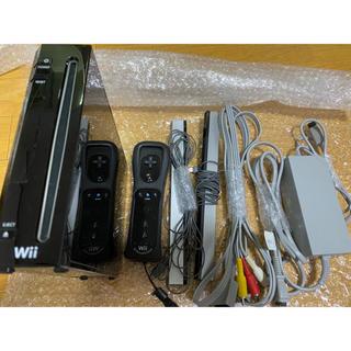 Wii - Wii 本体 黒セット