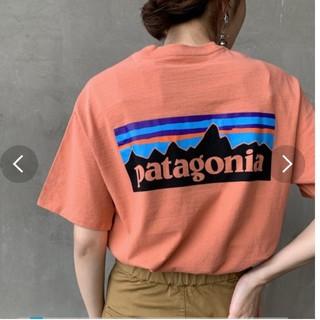 patagonia - 可愛いカラーのパタゴニアTシャツポケットつき!XS