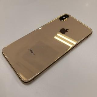 アイフォーン(iPhone)のsimフリー iPhone XS Max ゴールド 64GB 中古(スマートフォン本体)