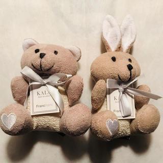 フランフラン(Francfranc)の新品★Francfranc バススクラバー ウサギ クマ★フランフラン (バスグッズ)