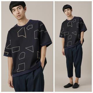 ドゥルカマラ(Dulcamara)のDulcamara 15S/S コンストラクションマークTシャツ ネイビー(Tシャツ/カットソー(半袖/袖なし))