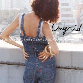 Ungrid - ungrid【新品タグ付】レースアップデニムコンビネゾン