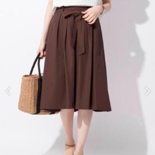 エニィスィス(anySiS)のダークブラウンスカート*送料込(ロングスカート)