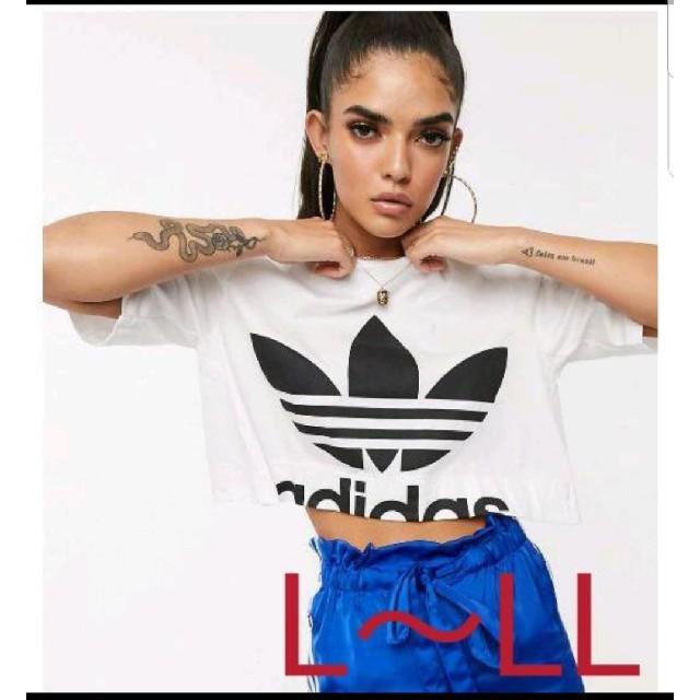 adidas(アディダス)のアディダスオリジナルス Adidas originals ショート丈 Tシャツ レディースのトップス(Tシャツ(半袖/袖なし))の商品写真