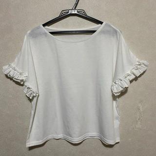 メルロー(merlot)の【新品・未使用☆】merlot フリルTシャツ(Tシャツ(半袖/袖なし))