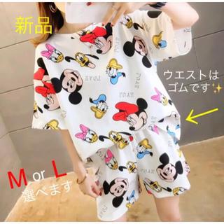 Disney - ミッキー ミニー ディズニー セットアップ M ルームウェア パジャマ 可愛い夏
