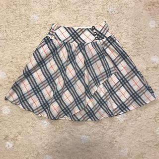 バーバリー(BURBERRY)のバーバリー ノバチェック スカート リネン ブレンド 160(スカート)