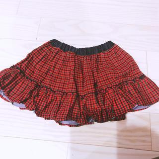 familiar - 美品 現行品 ファミリア リバーシブル スカート ファミリアチェック