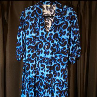 ファイヤーパターン オープンカラーシャツ ヴィンテージ(シャツ)