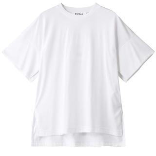 エンフォルド(ENFOLD)のENFOLD エンフォルド スビン天竺 スリットスリーブTシャツ(Tシャツ(半袖/袖なし))