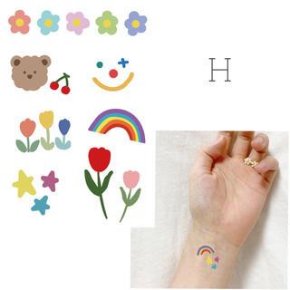 【H】タトゥーシール 韓国 ポップ 消えるタトゥー