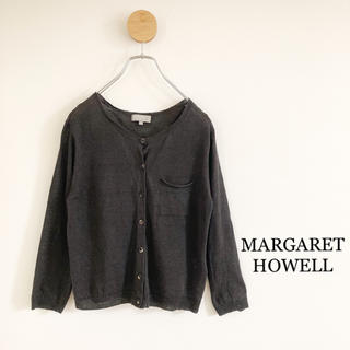 MARGARET HOWELL - マーガレットハウエル・リネンカーディガン・ブラウン