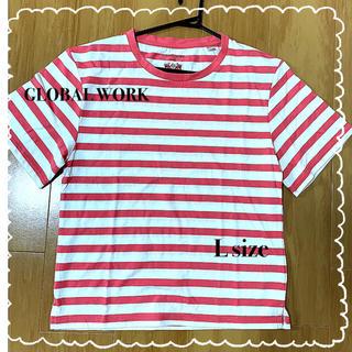 グローバルワーク(GLOBAL WORK)の【新品・未使用品】赤白 横縞 Tシャツ(Tシャツ(半袖/袖なし))