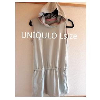 ユニクロ(UNIQLO)のUNIQLO ノースリーブ ワンピース ランニング ヨガ ストレッチ Lsize(ヨガ)