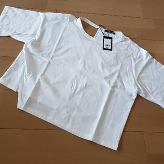 アウラアイラ(AULA AILA)のAULA AILA メッセージプリントTシャツ(Tシャツ(半袖/袖なし))